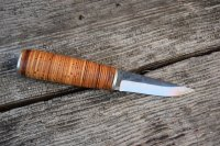 Stacked birch bark knife handle | Bushcraft USA Forums